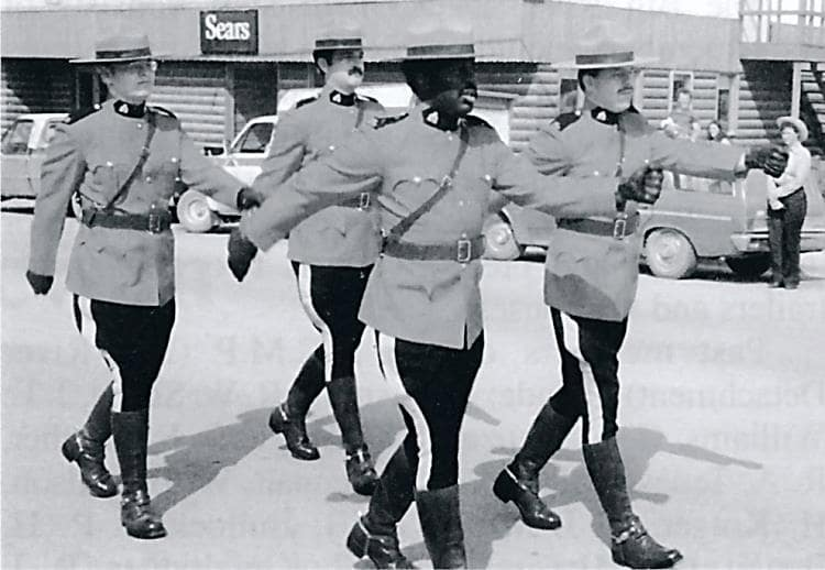 RCMP leading the parade in 1982.