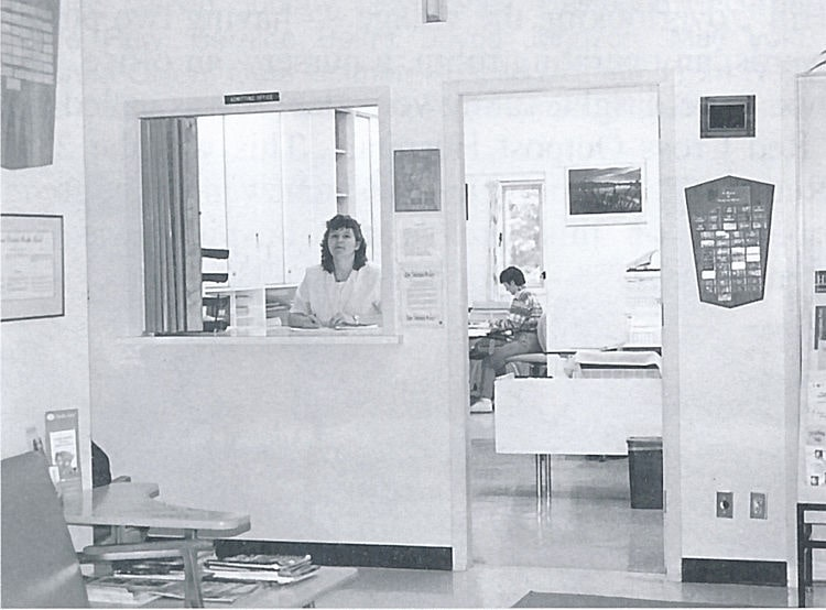 The office in Big River Union Hospital. March 2000.
