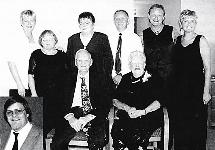 Back Row: Cindy, Faye, Linda, Barry, Jack, Pat. Front Row: Jean, Walter. insert Brad.