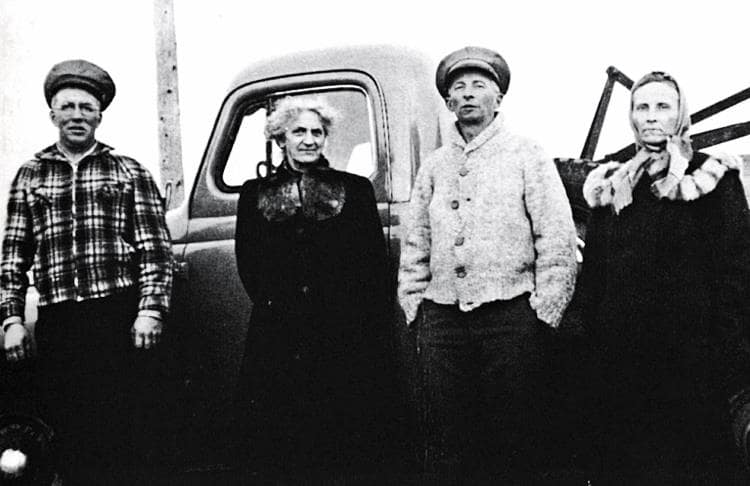 Bill Lowe, Belle Ranier, George Campbell, Mary Campbell.