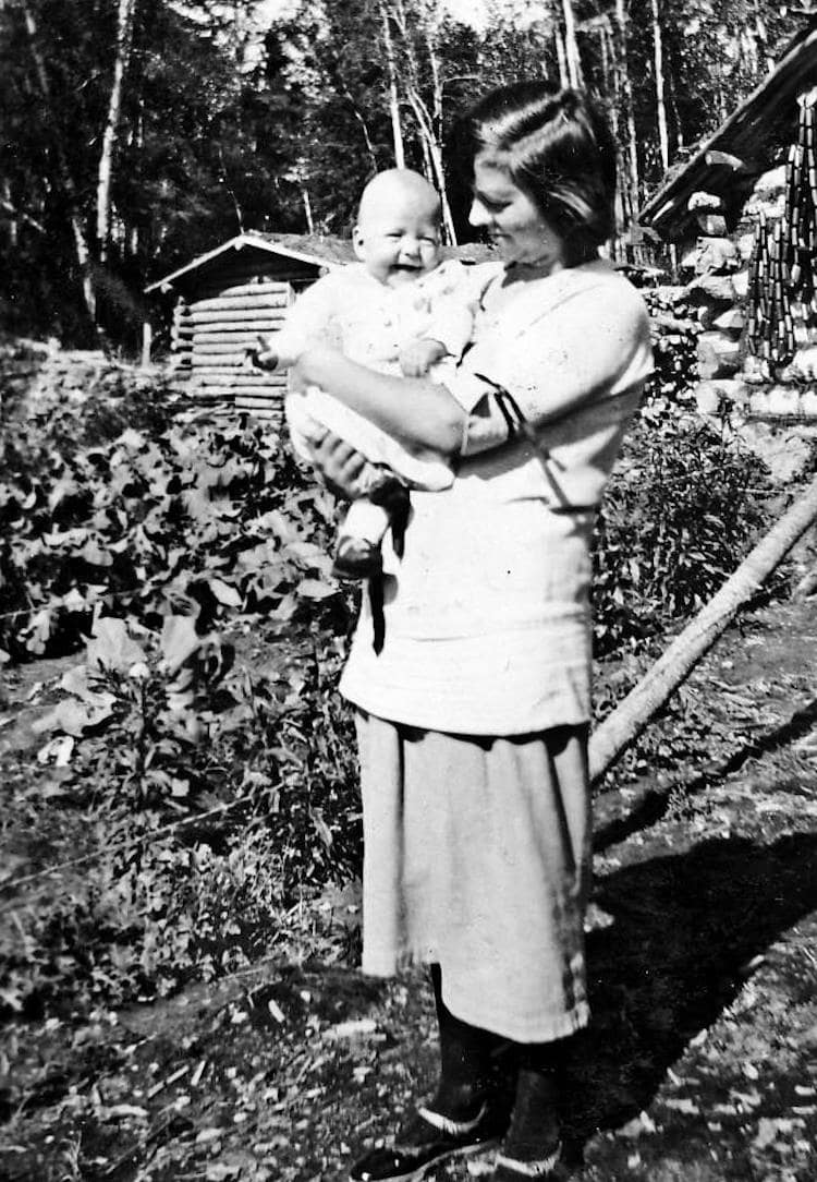 Marjorie Ausland and mother, Mary Ausland at Deep River.