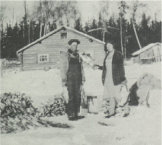 Gus Swanson and his wife Viola at their fish camp.