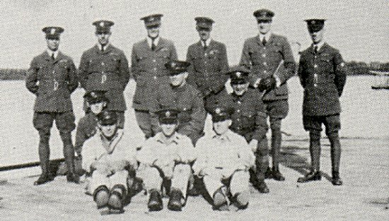 Officers of the RCAF Air Base, Ladder Lake.