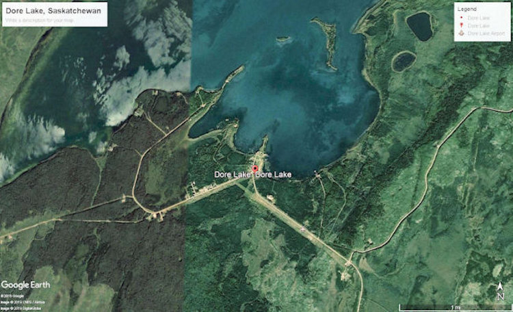 Google Map of Dore Lake.