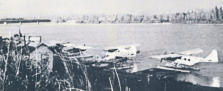 M&C Aviation's aircraft on the river at Prince Albert.