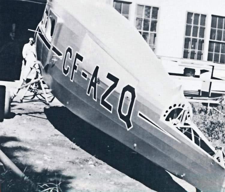 Waco CF-AZQ undergoing a complete overhaul and rebuilding.