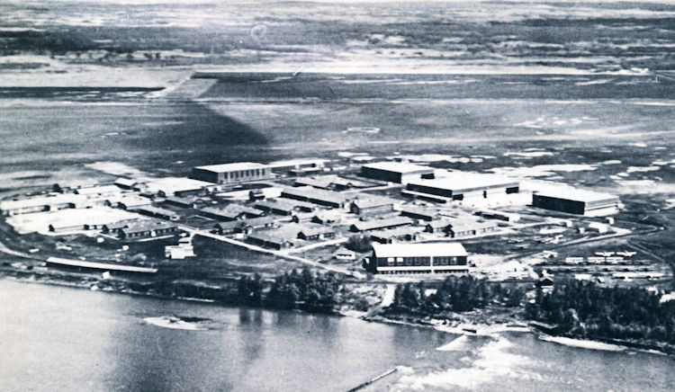 The Prince Albert airport as it appeared in 1945.