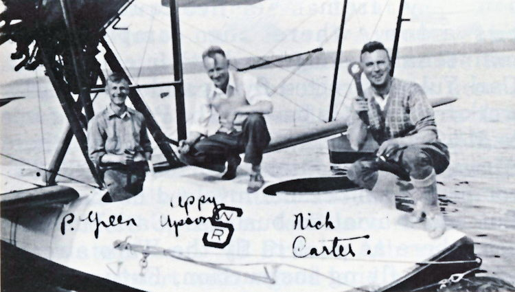 Department of Natural Resources Vickers Vedette crew members.