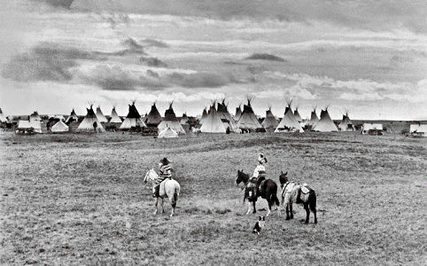 Blackfoot Indian encampment Calgary.