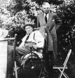 Angus McKay and John Diefenbaker in Prince Albert, 1951.