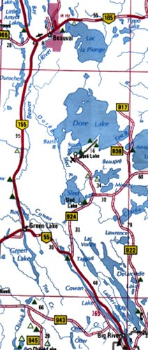 Cowan Lake and Beaver River Map