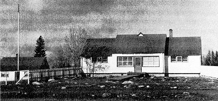 The La Ronge Store and Manager's Dwelling, 1946, burned in January, 1953.
