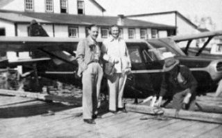 H.M. Ross (left) Barbara Kirk and Rene Baudais at Buffalo Narrows.