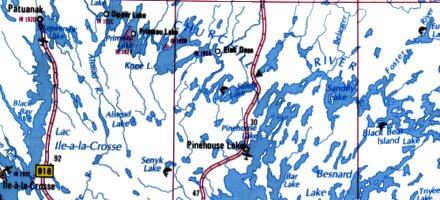 Churchill River Map