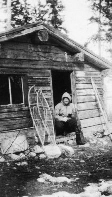 Ray Beaulac-Trapping Cabin-1930's.