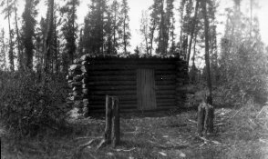 Photograph of trapping cabin