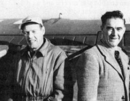 R.B. Urquhart (right) and H.M. Ross at Patuanak, October, 1948.