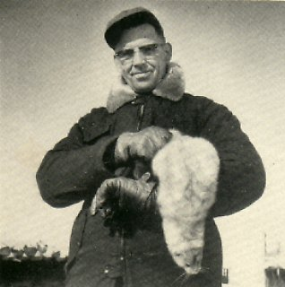 Mr. Vickland with a fine mutation mink.