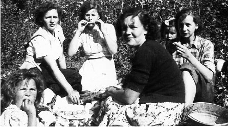 Group of Ladies at a picnic.