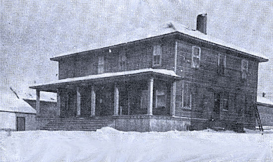 First hospital and post office - 1911.