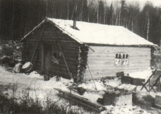 Nels Edson's fish camp - 1937.