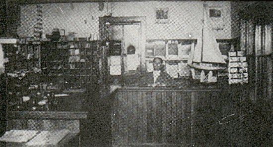 Inside the Post Office. Mr. Forbes, postmaster