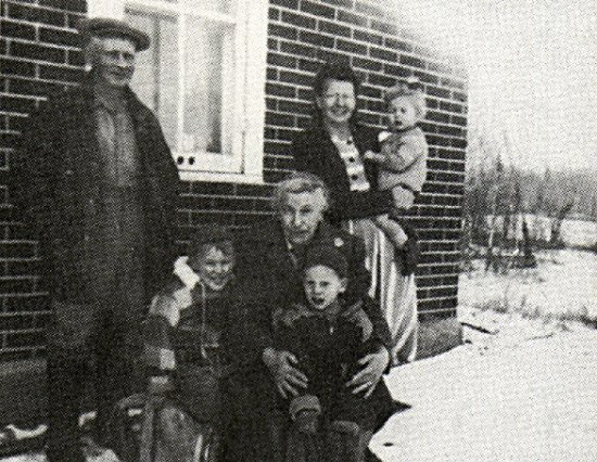 Al and Maude Martin with Sylvia and boys - Allan, Harvey and Nell.