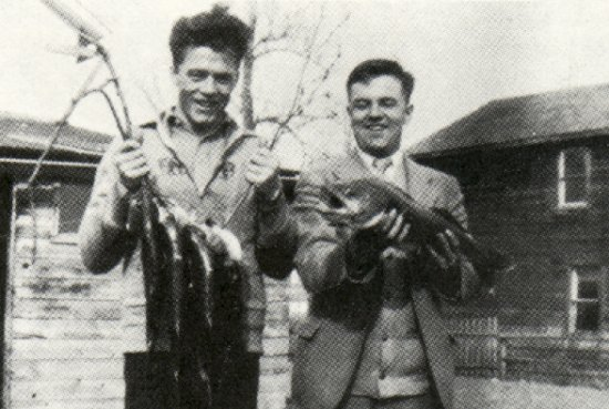 First season's catch with Frank Michie and John Corston.