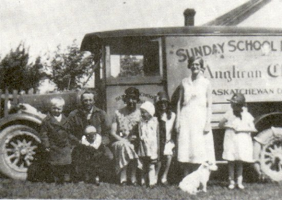 Anglican Sunday School Mission Van and the Vold family.