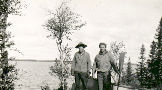Fred Darbyshire (right) and unidentified trapper