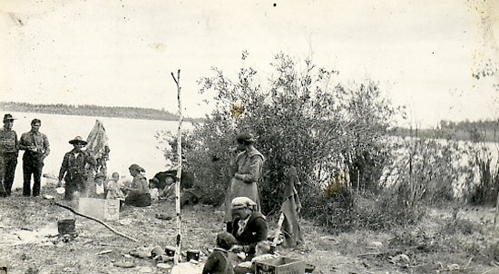 Natives camped at Foster River
