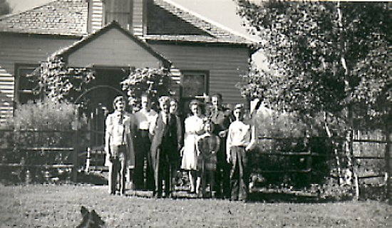 Egeland Farmhouse. Photograph was taken in 1940