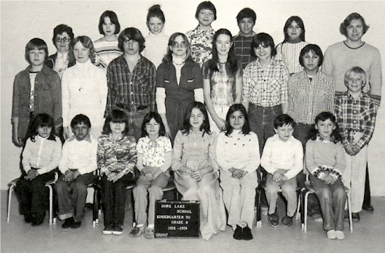 Back Row: (left to right) Bernice Snell, Brenda Burlacka, Lisa Johnson, Eldon Edquist, Fred Roy, ----Brown, Tony Kowalczyk Middle Row: Irvin Burlacka, Barbie Schoegel, Troy Wilson, Jody Wilson, Karen Edquist, Clarence Regan, Shawn Regan, Corby Wilson Front Row: Priscilla Regan, Sheldon Regan, Marlene Eldrige, Lori-Ann Siminoe, Sharon Burlacka, Valerie Siminoe, Billy Regan, Edna Rickalton.