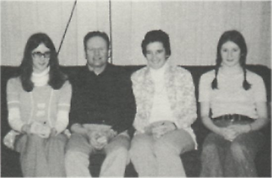 Left to right: Ida May, Ted, Carol, and Shirley Johnson.