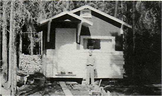 July 1959, First Cabin built by Del Joncas.