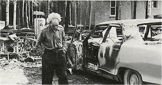 Del Joncas after fire, June, 1965.