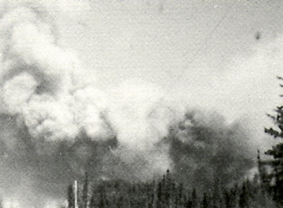 May 11th,1977. Fire as it broke out crossing Michel Road and heading to the garbage dump and Dore Lake Lodge.