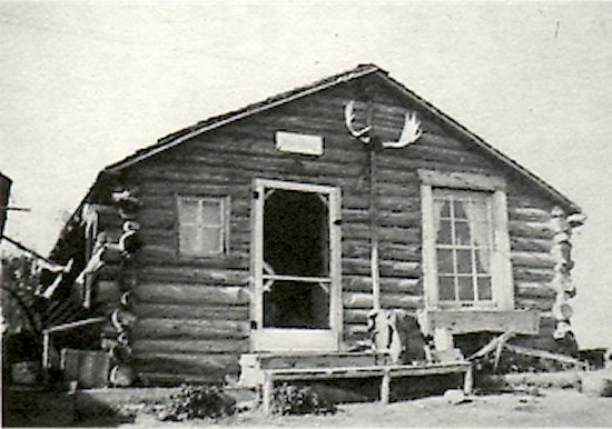 The Viden home and Post Office, 1948, at Murry's Point. This had been Nels Edson's fish camp.