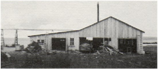 Waite's Fisheries sawmill at Murry's Point.