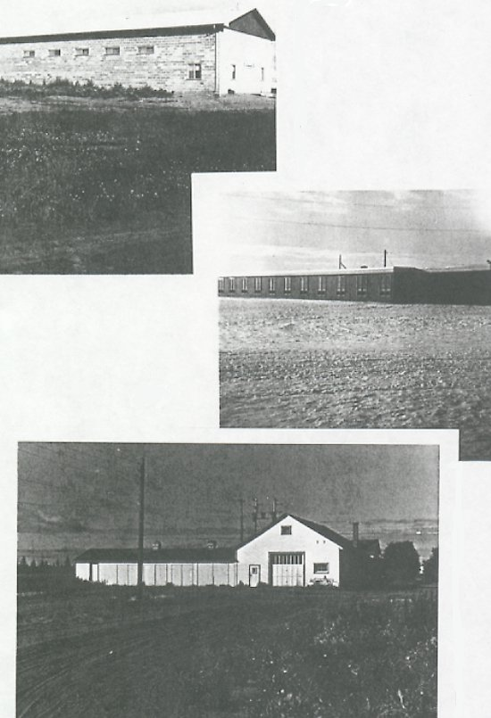 Top: Hall, Middle: School, Bottom: Workshop.