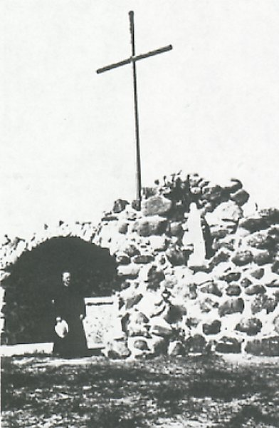 Grotto built in 1944-45.
