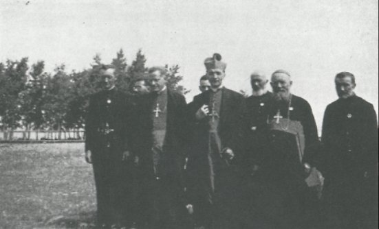 (1939)<BR>Left to Right: Joseph Bourbounais, Msg. M. LaJeunesse, Msg. Antonnelli, M. Rosignol, Msg. Brenat, Frere A. Ducloux.