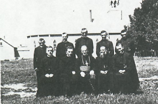 Oblate personnel and Bishop Martin Lajeunesse, OMI.