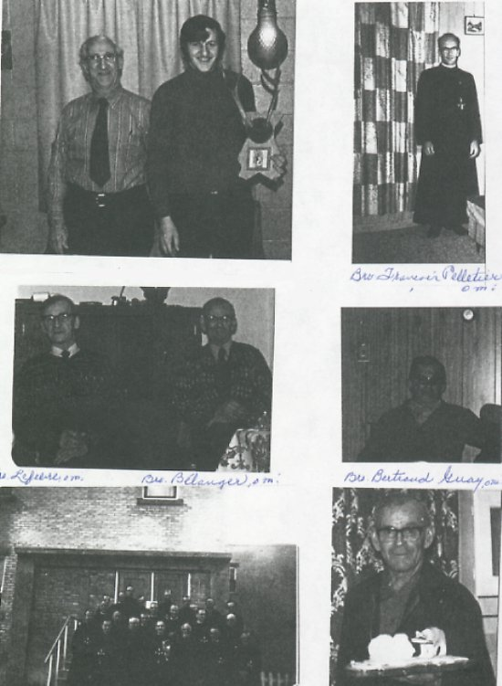 Brother Oblates<BR> Top right and left: Bro. Francois Pelltier OMI,<BR> Middle left: Bro. Lefevre OMI and Bro. Belanger OMI<BR> Middle right: Bro. Bertrand Guay OMI,<BR> Bottom left: Brother Oblates, Bottom right: Bro. Belanger OMI.