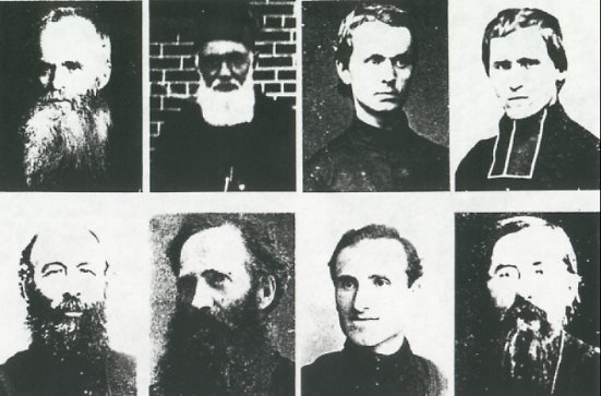 Oblate missionary priests before 1900.