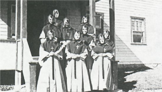 Some of the first Grey Nuns.