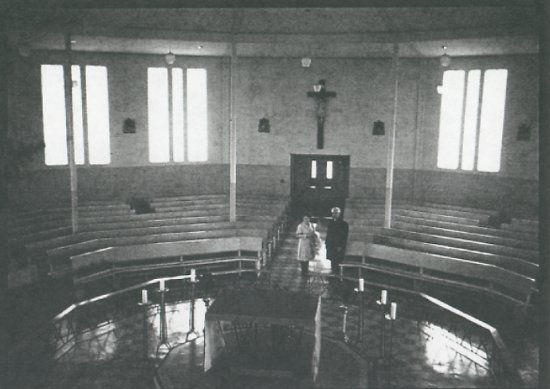 Interior of church.