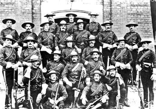 Diamond Jubillee Contingent of the North-West-Mounted-Police.