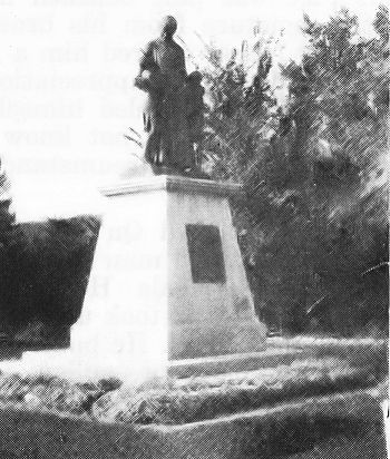 Monument to Father Hugonard at the Indian Industrial School in the Qu'Apelle Valley.