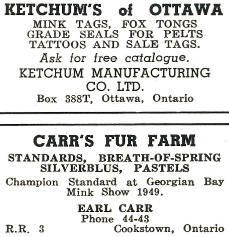 Ketchum Manufacturing Advertisment